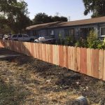 1x6 Redwood Dog Ear Fence