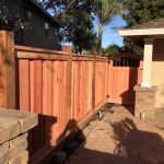 Board on Board Fence, Cap and Trim with 2 Fascia and Kickboard