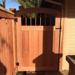 Custom Gate with Black Powder Coated Hardware