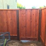 Redwood 1x8 Board on Board Picutre Framed Fence with Gate