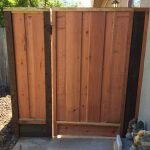 Redwood Board on Board Picture Framed Gate
