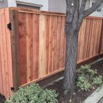 Redwood Louvered Picture Framed Fence