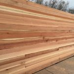 Horizontal Redwood Fence