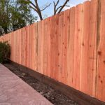 Dog ear redwood fence