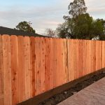 Redwood Dog Ear Fence on Kickboard 3