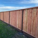 REdwood picture framed fence